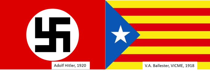 Image result for bandera separatista catalana